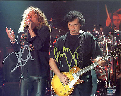 REPRINT ROBERT PLANT JIMMY PAGE LED ZEPPELIN 5 autographed signed photo