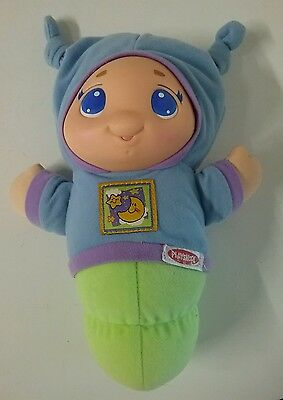 LULLABY GLOWORM Playskool 2005 Hasbro 24cm lights up and plays 6 lullabies music