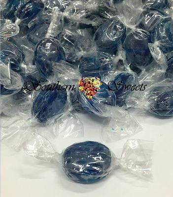 Blue  Lollies Wrapped Blueberry Candy 1Kg Approx 200Ct Xmas Christmas Lollies