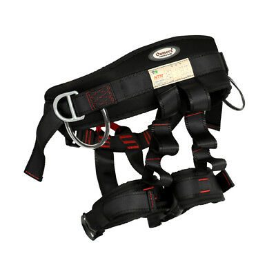 Black Tree Carving Fall Protection Rock Climbing Downhill Rappelling Harness