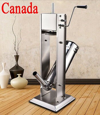 5L15LB Vertical Commercial Sausage Stuffer Stainless Steel Meat Fliier/Press NEW