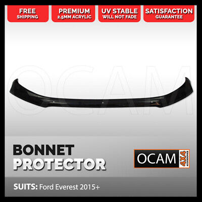 OCAM Bonnet Protector for Ford Everest 2015 2016 Tinted Guard