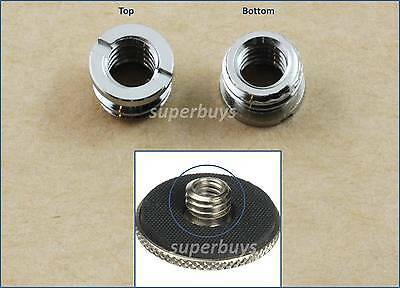 "2pc 1/4"" to 3/8"" Thread Convert Screw Adapter Reducer Bushing For Tripod Monopod"