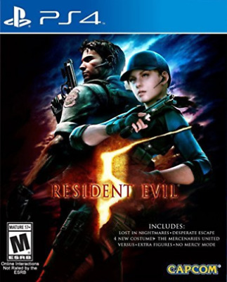 Resident Evil 5 V PS4 Playstation 4 Game Capcom Brand New Sealed