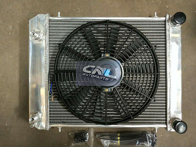 3 ROW FULL ALUMINUM RADIATOR+FAN Land Rover Defender Discovery BTP2275 300TDI