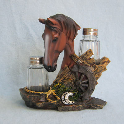 Equine Spice Horse Head Salt and Pepper Shaker figurine