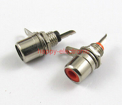 10PCS RCA Socket jack AV plug Panel Mount DIY 2 color each 5pcs