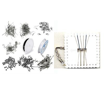 Jewellery DIY Making Accessories Findings Starter Kit + Kumihimo Cord Plate