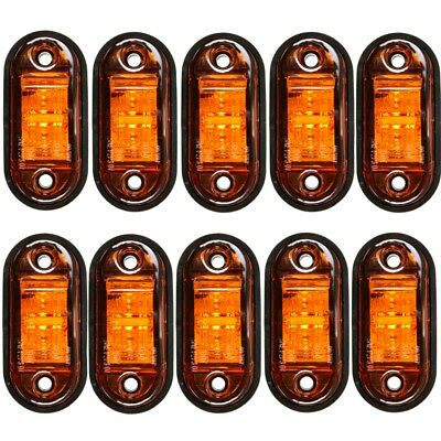 10 x 12V amber LED Side Marker Indicator Light Lamp Caravan Truck Trailer Lorry
