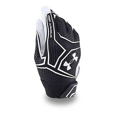 Under Armour Boys' ClutchFit Batting Gloves, Black (001), Youth Small