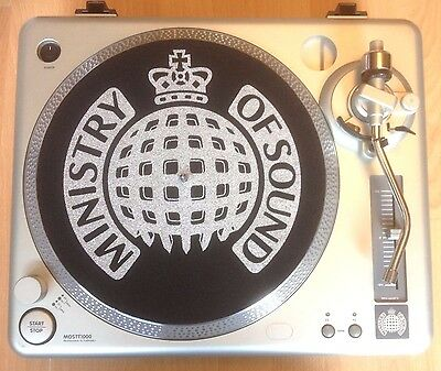 "1 X Ministry Of Sound Turntable - 12"" Vinyl Records Record Player Deck Rave Dj"