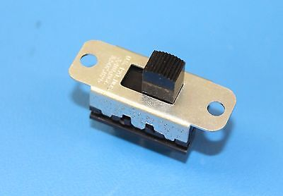 "Switchcraft 11A1534 DPDT Panel Mount 1.125"" Centers PC Pin Slide Switch, QTY-20"