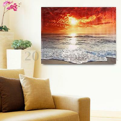 Seaside Sunset Scenery Canvas Print Painting Picture Unframed Wall Art Decor