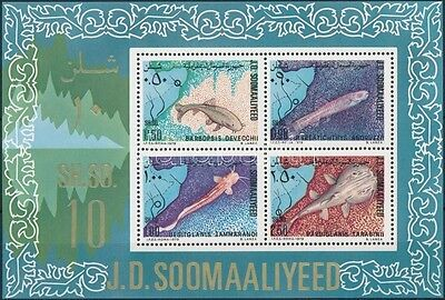 Somalia stamp Fishes block 1979 MNH Mi 9 WS218029