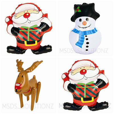 46Cm Large Inflatable Xmas Santa Snowman Reindeer Decorations Indoor/outdoor