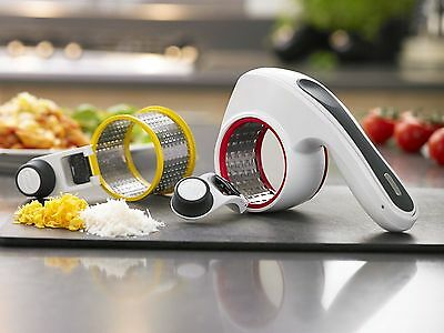 Zyliss All Cheese Grater Rotary Fine and Coarse Acid Etched Cheese Grater