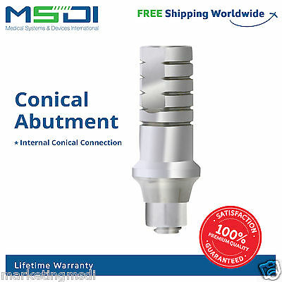 20 x straight abutment for Nobel Active Hex connection