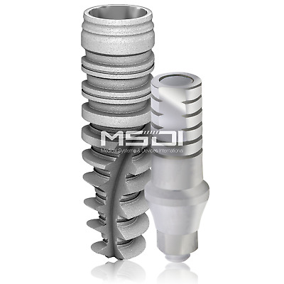 Dental Implant Conical Internal Hex + Straight Abutment Nobel Active Compatible