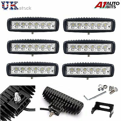 6X 18W 10-30V LED Work Lights Bar Spot Light Driving Lamps Offroad Car Truck SUV