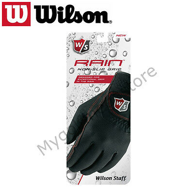 Wilson Staff Mens Rain Non Slip Gloves - One Pair - New