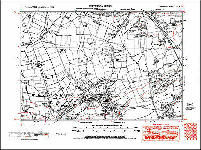 Rodbourne 1924 Wiltshire old OS map repro  13-7