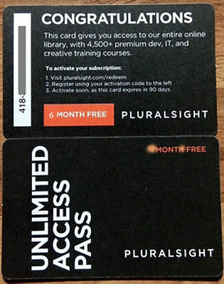 Pluralsight 6 Months PLUS Membership