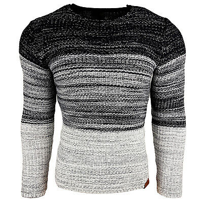 Subliminal Mode - Pull Over Col arrondi Homme Tricot SB-13270 Petite Maille