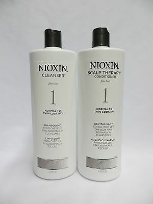 Nioxin System #1 Cleanser + Scalp Therapy Litre set