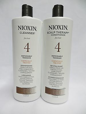 Nioxin System #4 Cleanser + Scalp Therapy Litre Set