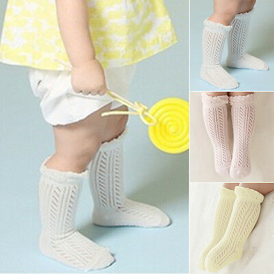 Toddler Kid Baby Girl Knee High Long Socks Cotton Casual Stockings 0-4Y ES