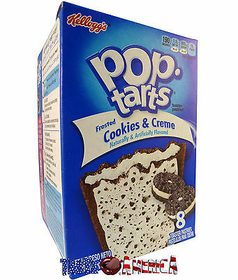 Kelloggs Pop Tarts Toaster Pastries 8 Pack Frosted Cookies & Creme 400g 18/12/16