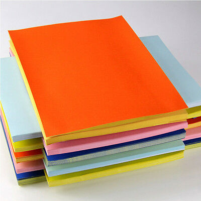 50 Sheets A4 Colorful Self Adhesive Print Paper Sticker Label Art Sheet 6 Colors