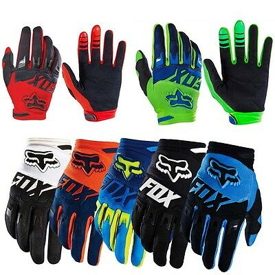 2016 Mens BikeMTB Racing Gloves Motorcycle Cycling Offroad Motocross Full Finger