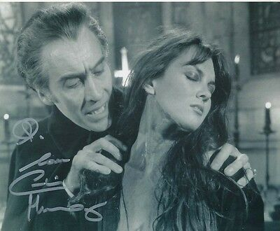 Caroline Munro Signed Photo with Christopher Lee - A1123 - Dracula A.D. 1972