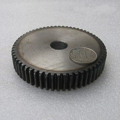 Motor Spur Gear 2.5Mod 62Tooth 45# Steel Outer Dia 160mm Thickness 25mm x 1Pcs