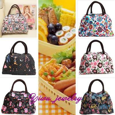 Women Portable Insulated Thermal Cooler Lunch Box Carry Tote Bag Travel Picnic-C