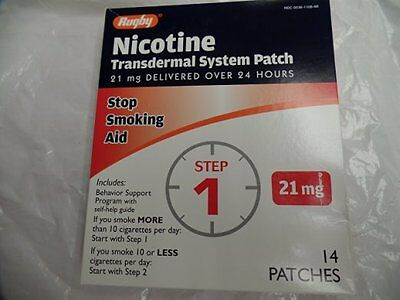 Rugby Nicotine Transdermal System 14 Patches (21 MG - STEP 1) Patches - JAN 2018