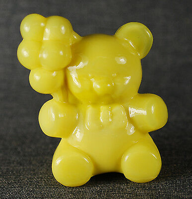 Bear figurine in Cadmium Yellow glass made in USA by Boyd Crystal Art Glass