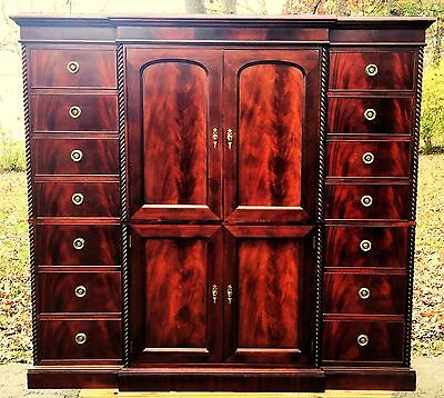 Henredon Furniture Carlyle Mahogany Armoire Cabinet Chest of Drawers Dresser