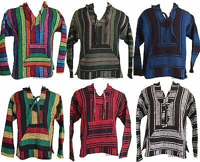 ANY COLOR Baja Pullover MEXICAN PONCHO BAJA Hoodie Mexican Sweater Baja SHIRT