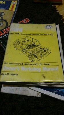 Classic mini haynes workshop manual  59 to 75  free postage