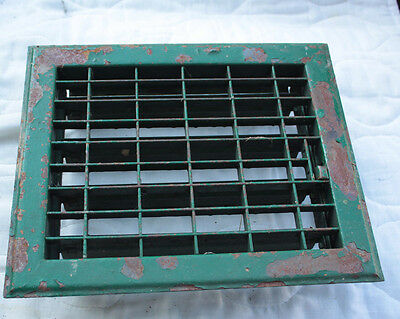 Vintage Antique Salvage Floor Register AC Heat Vent Steel Grate 10x12 Fits 8x10