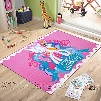MY LITTLE PONY PRINCESS CELESTIA KIDS PLAY RUG 100x150cm NONSLIP & WASHABLE *NEW