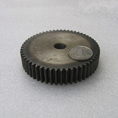Motor Spur Gear 2.5Mod 57Tooth 45# Steel Outer Dia 147.5mm Thickness 25mm x 1Pcs