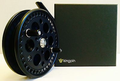 Kingpin R2 Centerpin Float Reel (Black With Black Backplate) **new**