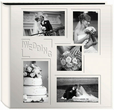 "Pioneer 5-Up Sewn Embossed Collage Frame Photo Album 12""X12""-Wedding, Pk 1"