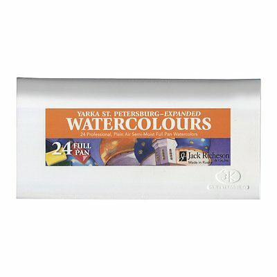 St. Petersburg Watercolours Expanded Set of 24 Professional Full Pan Paints