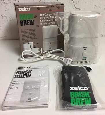New Zelco Brisk Brew Model 15001 Compact Portable Auto-Drip 8oz Coffee Maker