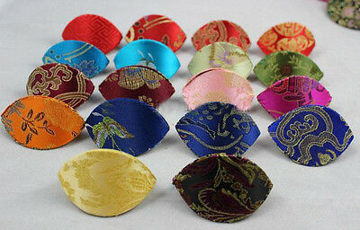 Wholesale Chinese HANDMADE Embroidered Flower Silk Jewelry Boxes Coin Bags