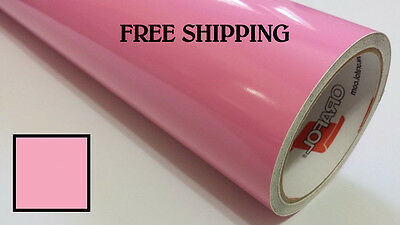"Glossy - SOFT PINK - Vinyl Graphics Decal Sticker Sheet Film Roll 24"" FRE SHIP"